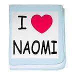 I heart naomi baby blanket