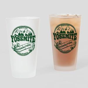 Yosemite Old Circle Green Drinking Glass