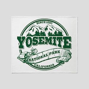 Yosemite Old Circle Green Throw Blanket