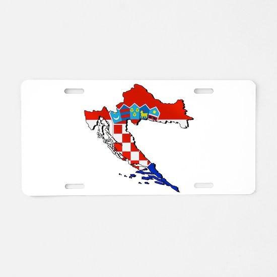 Croatia Map Aluminum License Plate