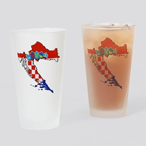 Croatia Map Drinking Glass
