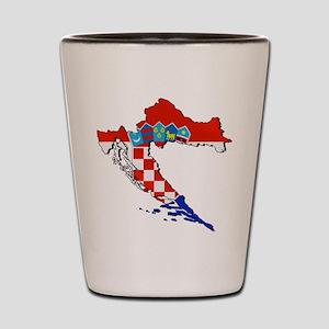 Croatia Map Shot Glass