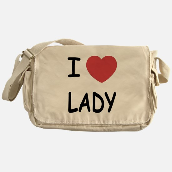 I heart lady Messenger Bag