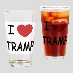 I heart tramp Drinking Glass