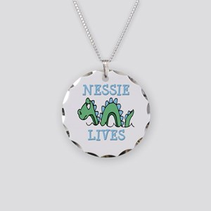 Nessie Lives Necklace Circle Charm