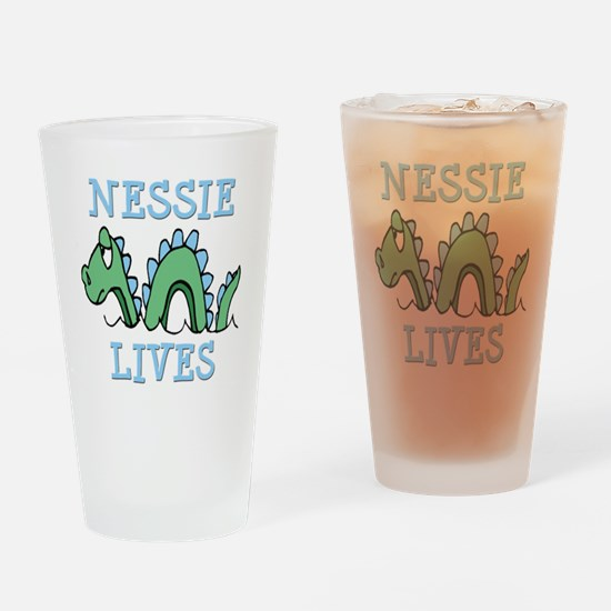 Nessie Lives Drinking Glass