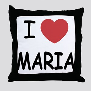 I heart maria Throw Pillow
