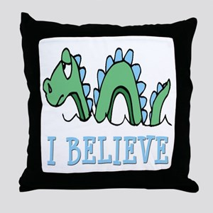 I Believe in Sea Monsters Throw Pillow