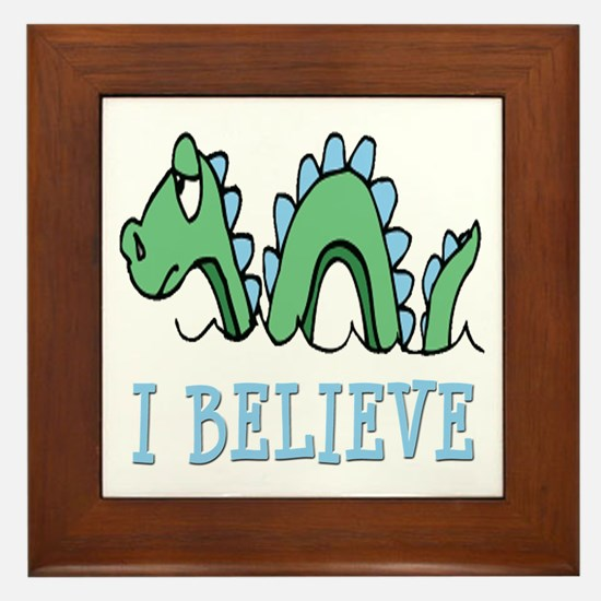 I Believe in Sea Monsters Framed Tile