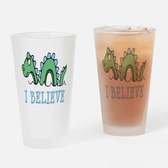 I Believe in Sea Monsters Drinking Glass