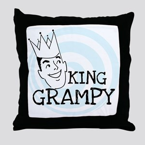 King Grampy Throw Pillow