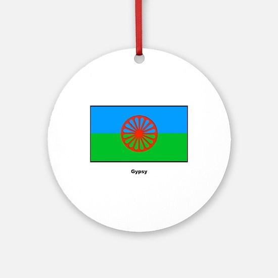 Gypsy Flag Ornament (Round)