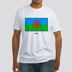 Gypsy Flag (Front) Fitted T-Shirt