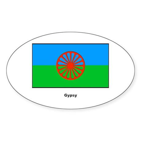 Gypsy Flag Oval Sticker