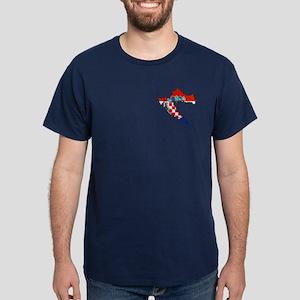 Croatia Map Dark T-Shirt