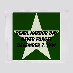 Pearl harbor day: Never forge Throw Blanket