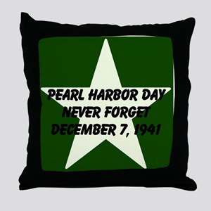 Pearl harbor day: Never forge Throw Pillow