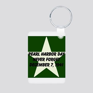 Pearl harbor day: Never forge Aluminum Photo Keych