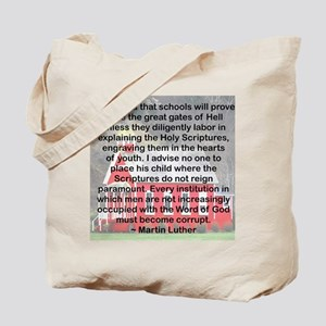 SCHOOL GATES OF HELL Tote Bag