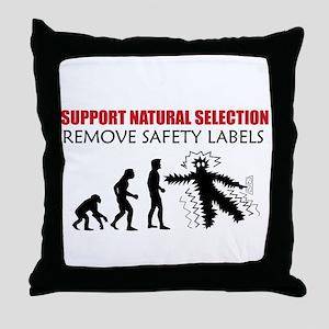 Natural Selection Throw Pillow