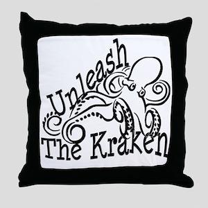 Unleash the Kraken Throw Pillow