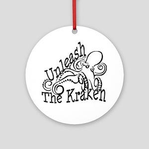 Unleash the Kraken Ornament (Round)