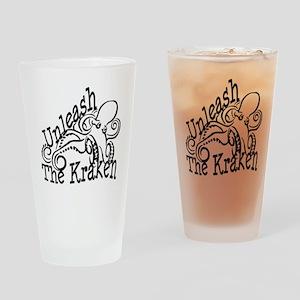 Unleash the Kraken Drinking Glass