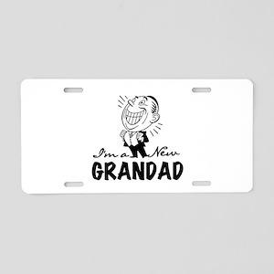 Smiling New Grandad Aluminum License Plate
