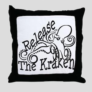 Release the Kraken Throw Pillow