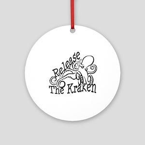 Release the Kraken Ornament (Round)