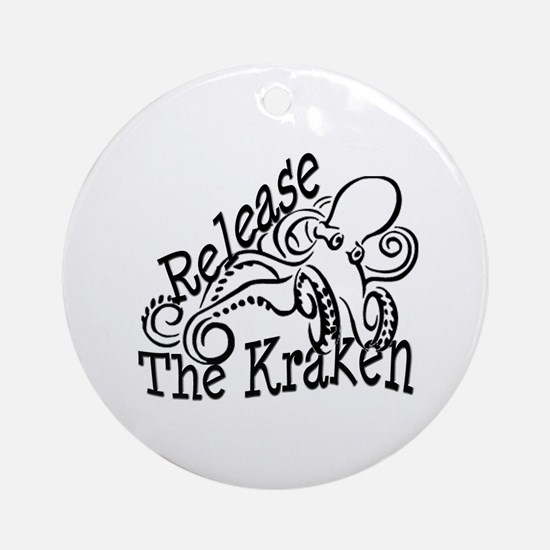 Release the Kraken Ornament (Round)