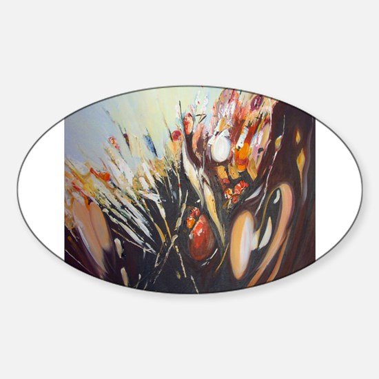 """Fantasy abstract """"From the gr Oval Decal"""
