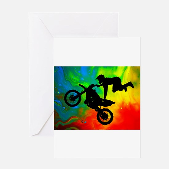 Unique Motocross Greeting Card