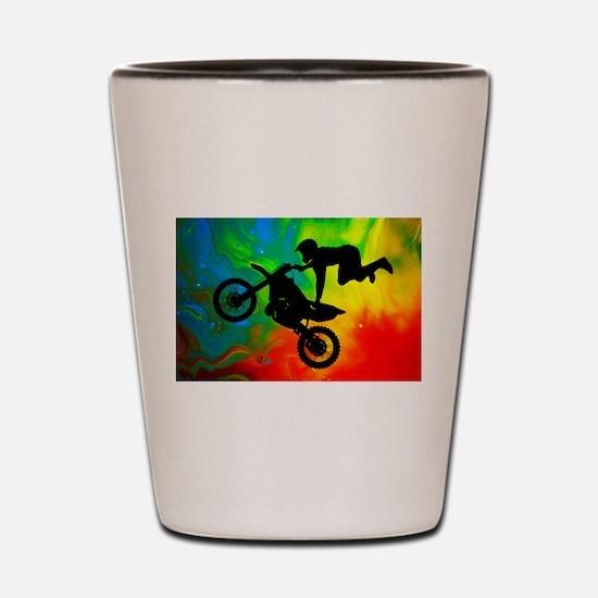 Funny Dirt bike Shot Glass