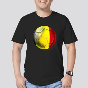Belgian Football Men's Fitted T-Shirt (dark)