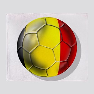 Belgian Football Throw Blanket