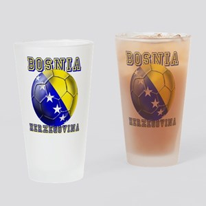 Bosnian Football Drinking Glass
