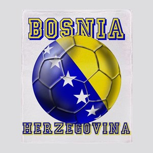 Bosnian Football Throw Blanket