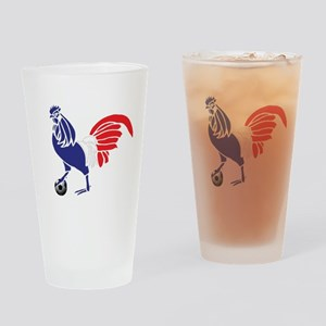 France Le Coq Flag Drinking Glass