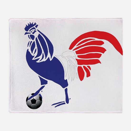 France Le Coq Flag Throw Blanket