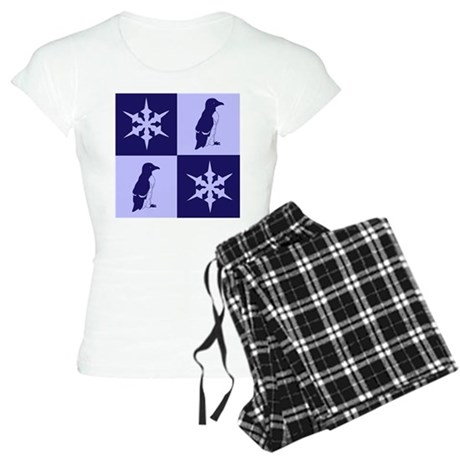 Penguin Quilt (blue) Women's Light Pajamas