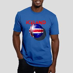Icelandic Soccer Men's Fitted T-Shirt (dark)