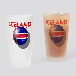 Icelandic Soccer Drinking Glass