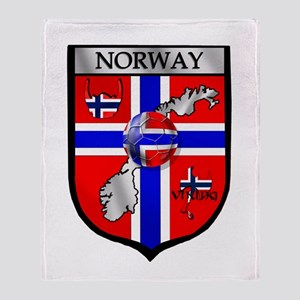 Norway Soccer Shield Throw Blanket