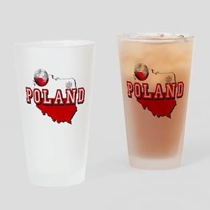Polish Flag Map Drinking Glass