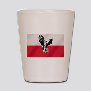 Polish Football Flag Shot Glass