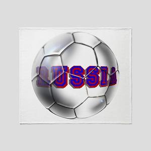 Russian football Throw Blanket