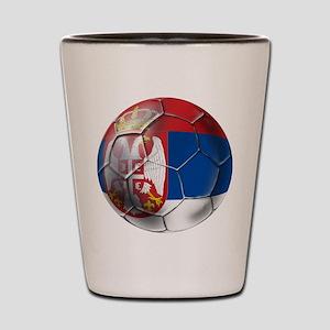 Serbian Football Shot Glass