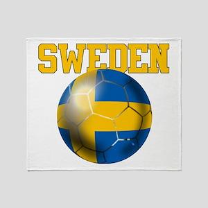 Sweden Football Throw Blanket