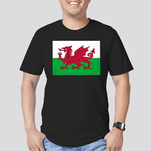 Welsh flag of Wales Men's Fitted T-Shirt (dark)